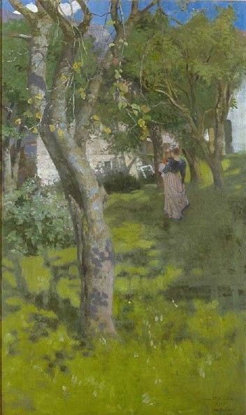 In the Midst of Green | Wilhelm Balmer | Oil Painting