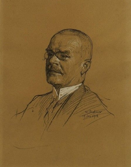 Portrait of the Painter Fritz Voellmy (1863-1939)   Wilhelm Balmer   Oil Painting