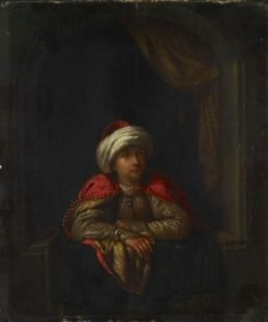 A Turk by a Window | Willem van Mieris | Oil Painting