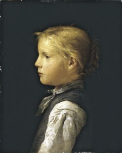 Blond Girl | Albert Anker | Oil Painting