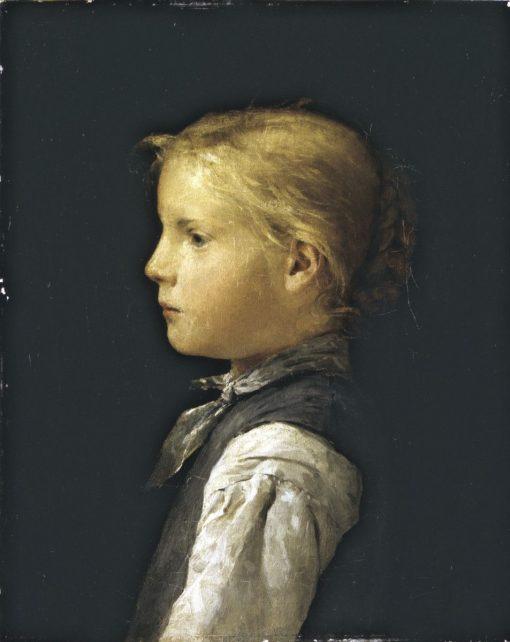 Blond Girl | Albert Anker | Oil Painting