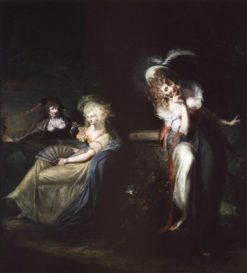 Beatrice overhears Hero and Ursula | Johann Heinrich Fuseli | Oil Painting
