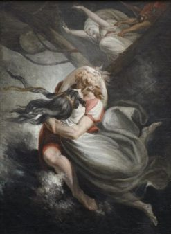 Amanda / Rezia with Huon Hurl themslves into the Sea whilst Fatime is Held Back by Force | Johann Heinrich Fuseli | Oil Painting