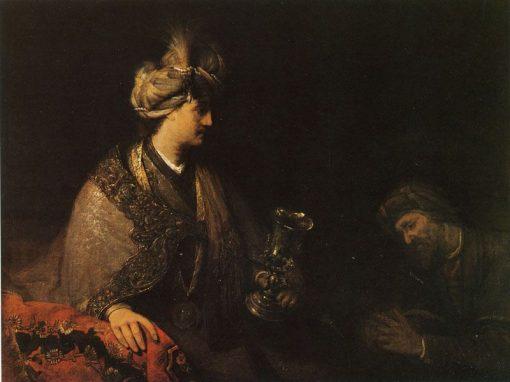Judah Pleading before Joseph for His Brother Benjamin   Aert de Gelder   Oil Painting