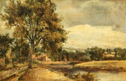 A Riverside | Frederick Waters Watts | Oil Painting