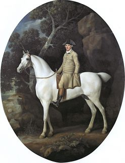 Self Portrait on a White Hunter | George Stubbs | Oil Painting