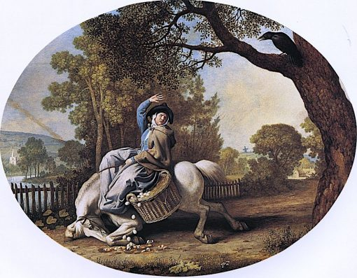 The Farmer's Wife and the Raven | George Stubbs | Oil Painting
