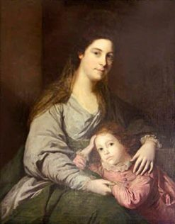 Lady Lepell Phipps and Her Son | Sir Joshua Reynolds | Oil Painting