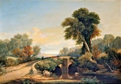 Stream with Peasants Driving Cattle | William James Muller | Oil Painting