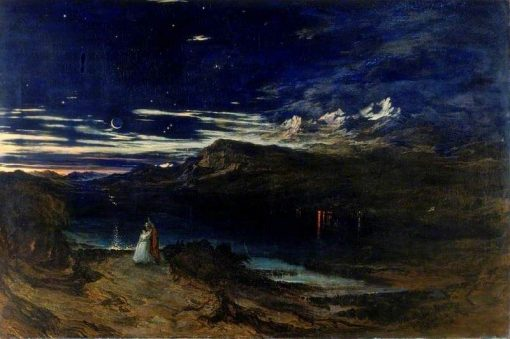 Arthur and Aegle in the Happy Valley | John Martin | Oil Painting