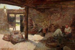 Mending the Nets | Sir Frank William Brangwyn | Oil Painting