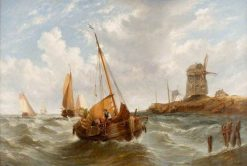 Seascape with Boats | William Adolphus Knell | Oil Painting
