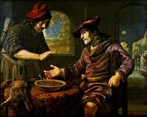 Esau and the Mess of Pottage   Jan Victors   Oil Painting