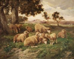 Landscape and Sheep | Charles Emile Jacque | Oil Painting