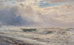 Rough Weather on the Coast of Cumberland | Henry Moore | Oil Painting