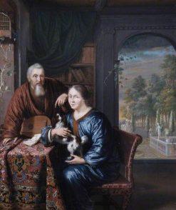 A Dutchman and His Wife | Willem van Mieris | Oil Painting