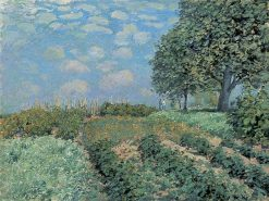 Les Champs | Alfred Sisley | Oil Painting