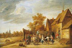 Peasants Dancing Outside an Inn | David Teniers II | Oil Painting