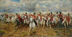 Scotland For Ever! | Elizabeth Southerden Thompson Butler | Oil Painting