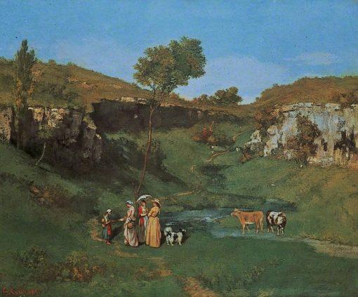 Les demoiselles de village | Gustave Courbet | Oil Painting