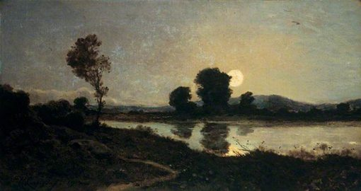 Moonlight on a Lake | Henri Joseph Harpignies | Oil Painting