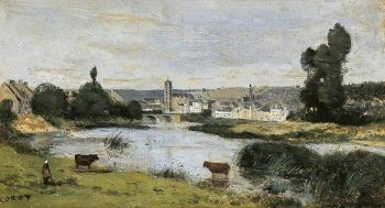 Les chateaux | Jean Baptiste Camille Corot | Oil Painting