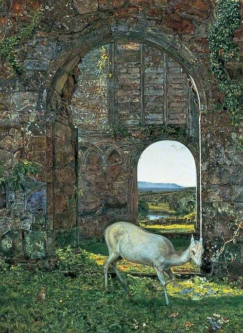 A Bolton(also known as The White Doe of Rylstone) | John William Inchbold | Oil Painting