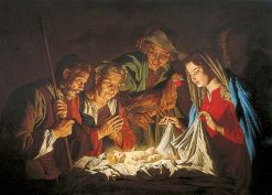 The Adoration of the Shepherds | Matthias Stomer | Oil Painting