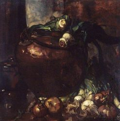Leeks | Sir Frank William Brangwyn | Oil Painting