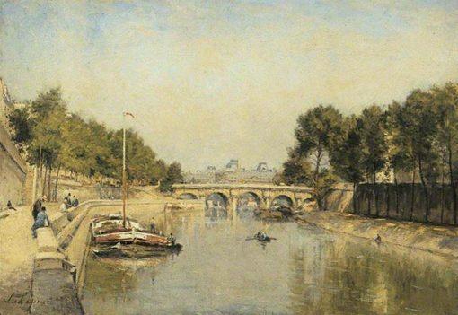 Les bords de la Seine | Stanislas LEpine | Oil Painting