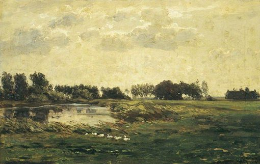 Water Meadows | Willem Roelofs | Oil Painting
