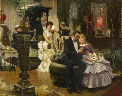 A Conversation Piece | Solomon Joseph Solomon | Oil Painting