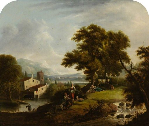 Landscape with a Mill | Francesco Zuccarelli | Oil Painting