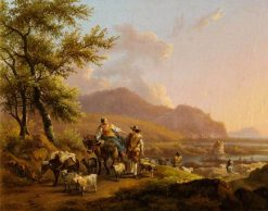 An Italianate Landscape with Herdsmen | Nicolaes Berchem | Oil Painting