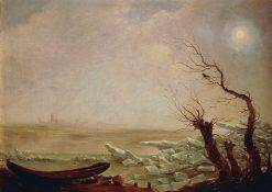 Landscape with a Boat Amid the Ice | Carl Gustav Carus | Oil Painting