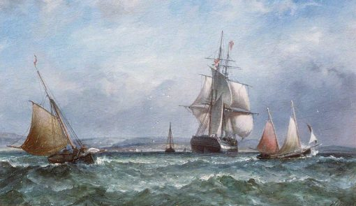 Man o' War and Sailing Ships | James Harris Senior | Oil Painting