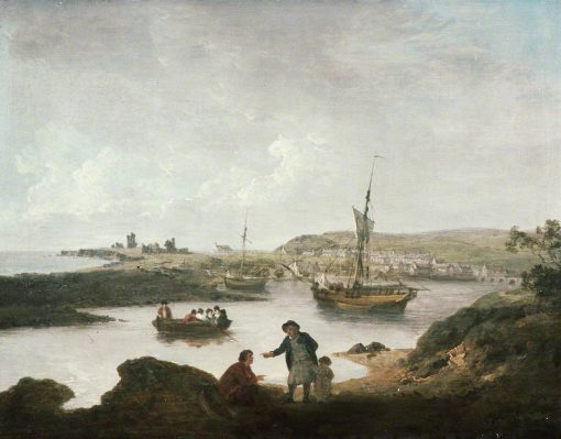 Aberystwyth Harbour | Julius Caesar Ibbetson | Oil Painting