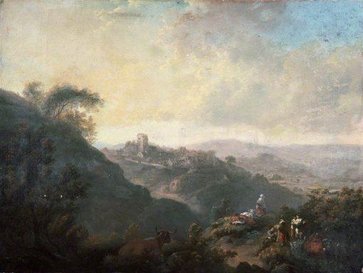 Llantrisant | Julius Caesar Ibbetson | Oil Painting