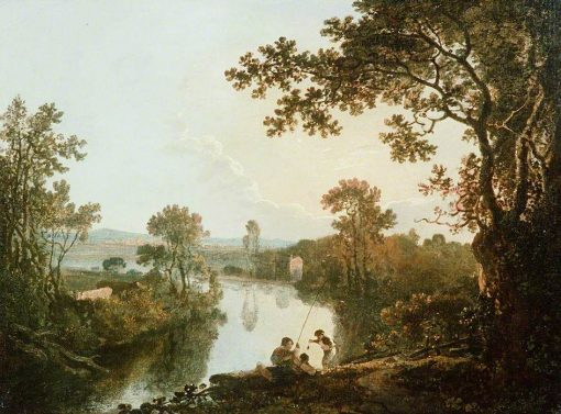 A View on the River Dee with Anglers | Richard Wilson