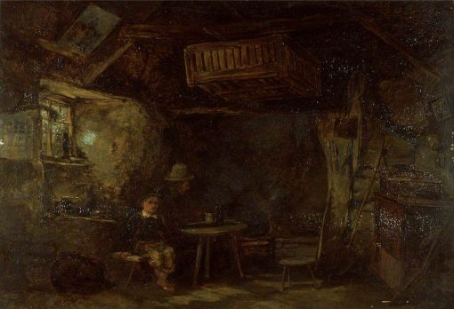 Interior of a Welsh Cottage | William James Muller | Oil Painting