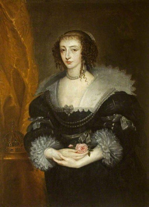 Henrietta Maria (1609-1669)   Anthony van Dyck   Oil Painting