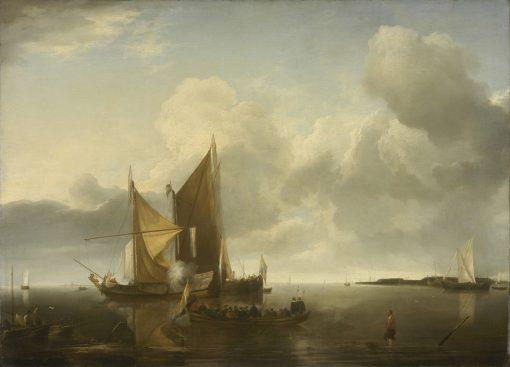 Ships in a Calm | Jan van de Cappelle | Oil Painting