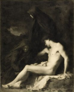 Saint Sebastian Attended by Saint Irene | Jean Jacques Henner | Oil Painting