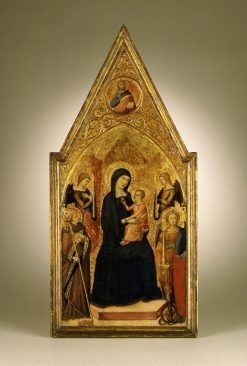 Virgin and Child with Saints Louis of Toulouse and Michael | Luca di TommE | Oil Painting