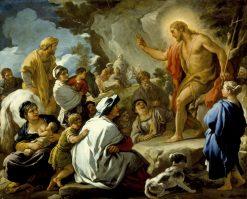 Saint John the Baptist Preaching | Luca Giordano | Oil Painting