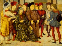 Shooting at Father's Corpse (fragment from Cassone panel) | Marco Zoppo | Oil Painting