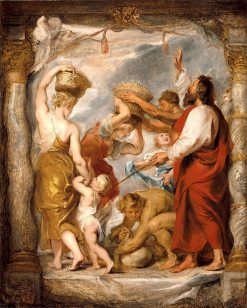 The Israelites Gathering Manna in the Desert | Peter Paul Rubens | Oil Painting