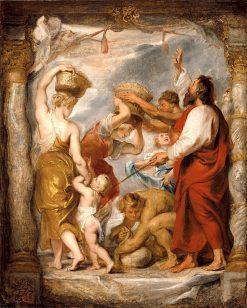 The Israelites Gathering Manna in the Desert | Peter Paul Rubens | Oil Painting