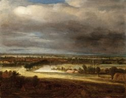 Panoramic Landscape with a Village | Philips Koninck | Oil Painting