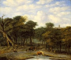 Forest Clearing with Cattle | Philips Koninck | Oil Painting